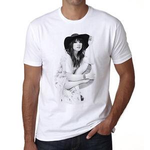 Carly-Rae-Jepsen-t-shirt-homme-Manches-Courtes-Coton-blanc-cadeau