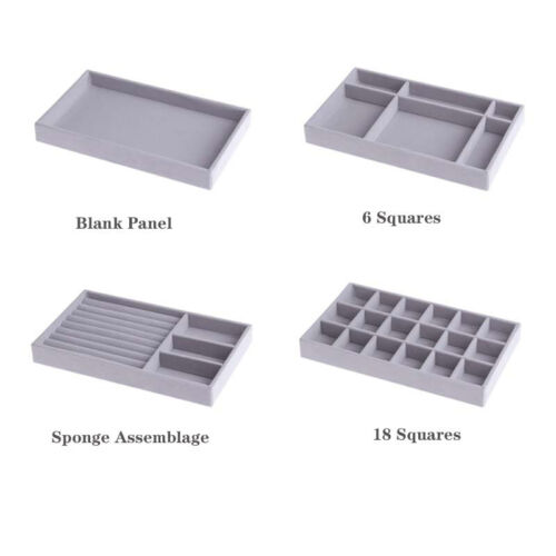Velvet Jewelry Display Storage Box Tray Show Case Organizer Holder Containers