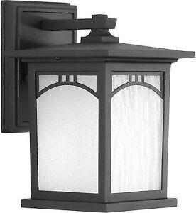 Progress Lighting Outdoor Wall Lantern 1 Light Residence Collection 6 Inch Black