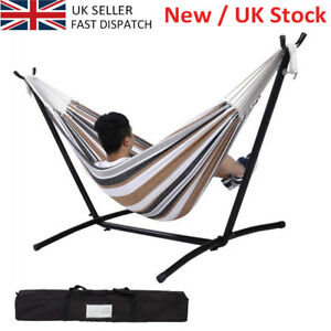 Image Is Loading Canvas Double Hammock Outdoor Garden Patio Swing Chair