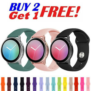 For Samsung Galaxy Watch Active 2 40 41 42 44mm Sport Silicone Strap Watch Band