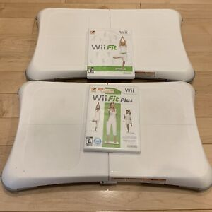 (2)Nintendo Wii Fit Plus Balance Boards (2)Games Bundle Lot FAST SAME DAY SHIP
