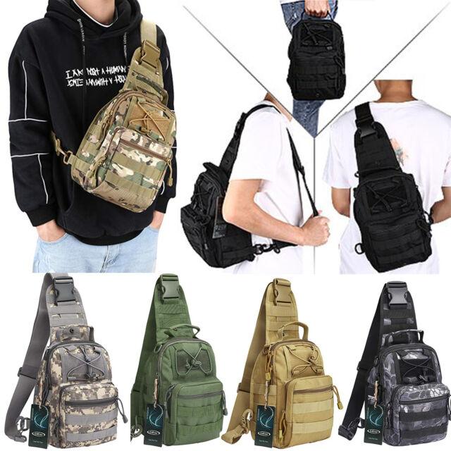Men Shoulder Tactical Outdoor Backpack Sling Chest Bag Travel Camping Hiking Bag