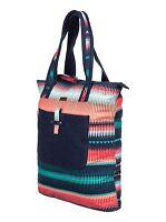 Roxy Day Sailor Canvas Tote Bag Beach Purse Bag Blue Teal Coral Shoulder