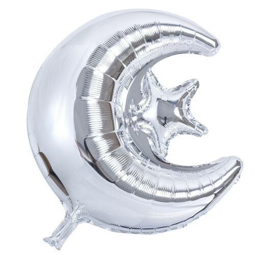 18 inch Eid Mubarak Foil Balloons Hajj Mubarak Decor Star Moon Helium Balloon PB