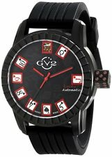 """GV2 by Gevril Men 9300 """"Lucky 7"""" Black Ion-Plated Stainless Steel Watch"""