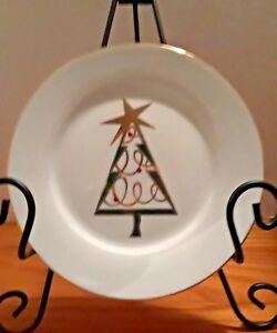 Pier One Christmas.Pier 1 One Green Christmas Tree Dessert Salad Plate Ebay