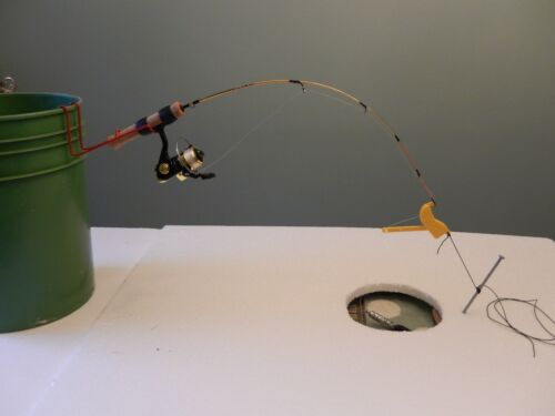 Ice Fishing Tip Ups Winter Special 3 Quickset Hook Setters for $10