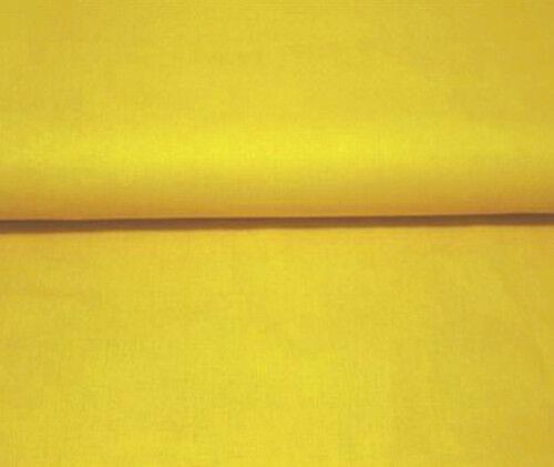 Baumwollstoff Meterware 1 lfm 160cm breit 100/% Baumwolle uni einfarbig Gelb