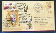 78973) Österreich FISA SF Wien - Graz 14.5.2011, Aerogramme ab Peru Seapost