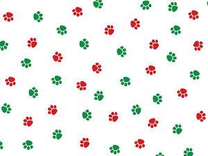 Dog Cat Christmas Paws Print Cello Cellophane Party Favor Goody Treats Bags 100