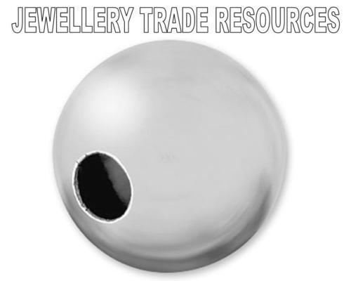 Argent sterling 925 8mm ronde perles creuses 1 trou