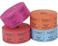 Roll Of 1000 Double Row Raffle Tickets Number Sequence Ticket Party Supplies