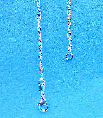 """Wholesale 1PCS Jewelry 925 Sterling Silver Plated """"Water Wave"""" Chain Necklaces"""