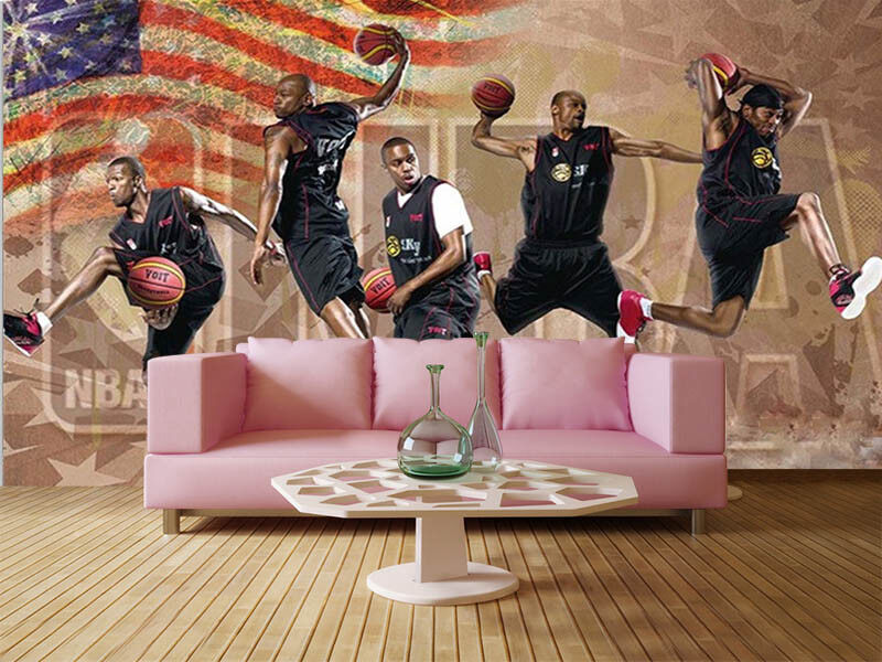 Pulpy Basketball 3D Full Wall Mural Photo Wallpaper Printing Home Kids Decor