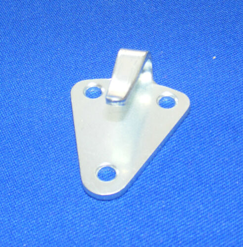 50 x 40mm 10 x Dreilochhaken verzinkt Stahl Dreiloch Planenhaken