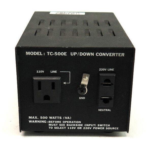 Model TC-500E Up/Down Converter Max. 500 Watts (VA)