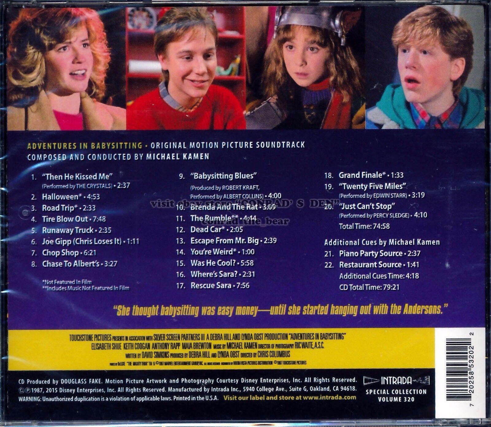 Michael Kamen Adventures in Babysitting Soundtrack OOP Disney Intrada CD