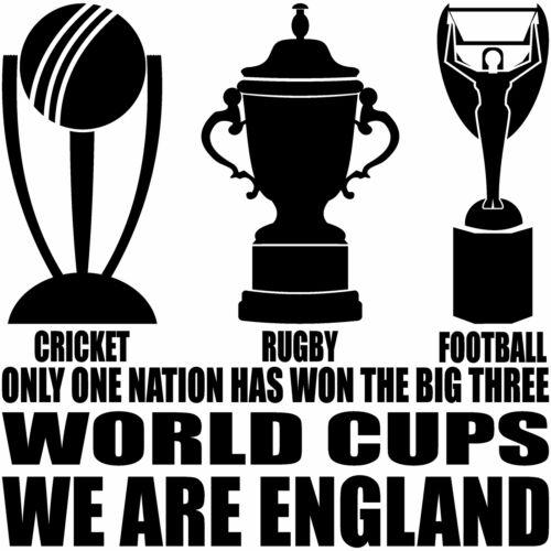 Femmes Sweat à capuche England Ventilateur la seule coupe du monde 3 gagnants Football Rugby Cricket