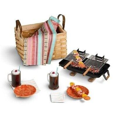 American Girl Julie BIRTHDAY GOODIES party hibachi grill plates picnic basket