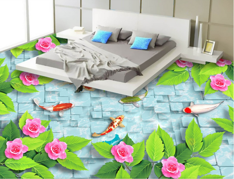 3D Grün leaf flower 235 Floor WallPaper Murals Wall Print Decal 5D AJ WALLPAPER