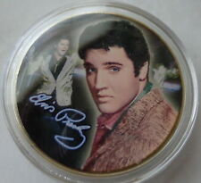 ELVIS PRESLEY THE KING OF ROCK N ROLL  24K GOLD  PLATED MEMORABILIA COIN #19s