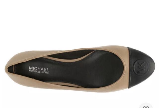 New Michael Kors Women's Dylyn Ballet Flats Black Logo Size 10 New In Box