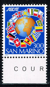 San Marino European Countries Flags around Globe stamp 1982 MNH