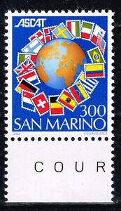 San Marino European Countries Flags around Globe stamp 1982 MNH