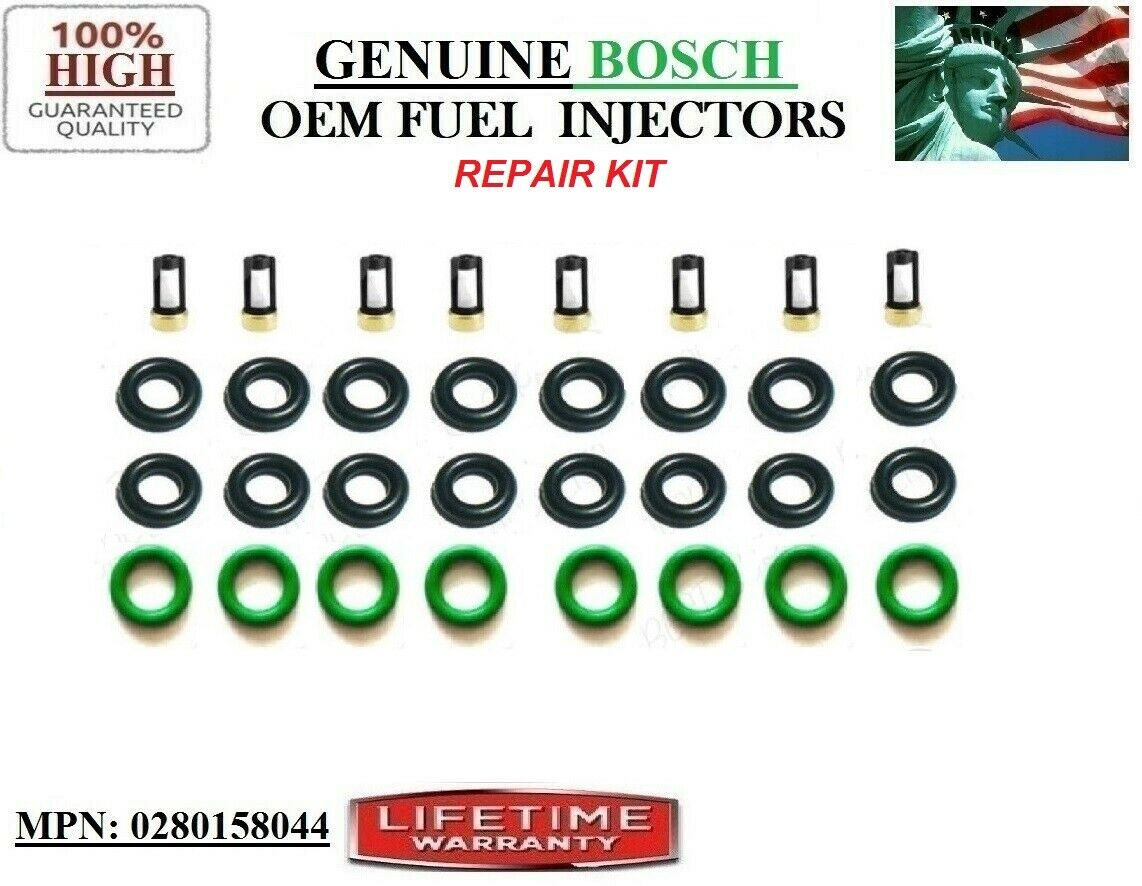 BOSCH OEM 4-HOLE UPGRADE FUEL INJECTORS 8X for 05-07 FORD F-150//250SD//350SD 5.4L