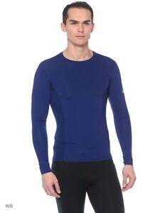 Asics-Motion-Base-Layer-Size-Small-Men-039-s-Running-Top-Full-Sleeve