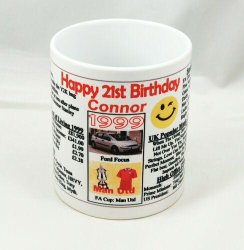 1999 Ideal Keepsake PERSONALISED  21ST BIRTHDAY MUG THE YEAR YOU WERE BORN