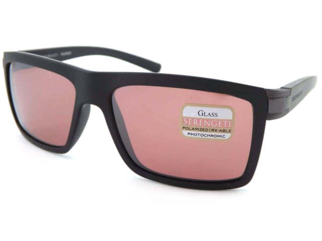 5a7630e9197 SERENGETI polarized photochromic BRERA Sunglasses Sanded Black   Sedona 8213