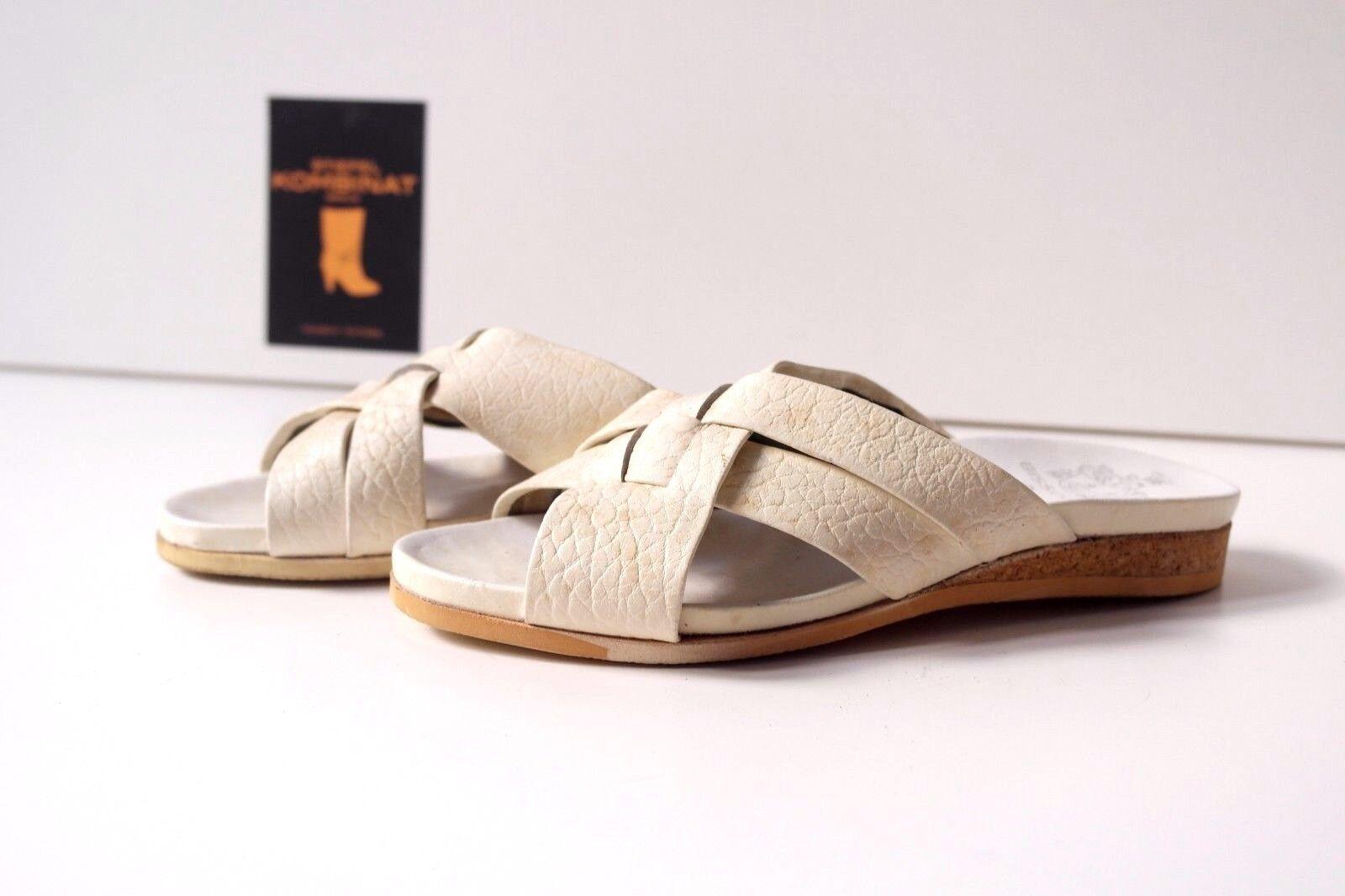 True vintage Bisson Rivoli sandalias corcho señora sandalias de cuña zapatos para baño nos