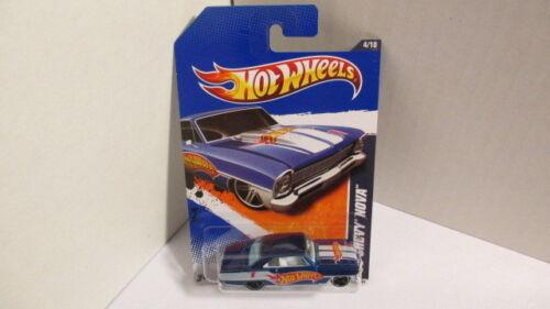 hw racing #4 1966 CHEVY NOVA blue w//hw race team deco Hot Wheels 2011 #154