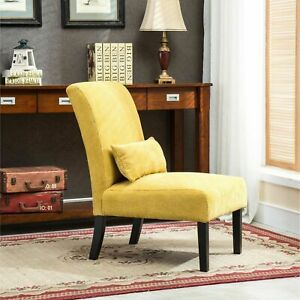 Surprising Accent Chair Furniture With Kidney Pillow Unique Yellow Contemporary Armless Squirreltailoven Fun Painted Chair Ideas Images Squirreltailovenorg