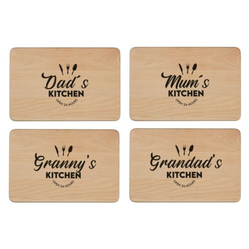 Personalised Wooden Beech Chopping or Cheese Board Laser Engraved Message