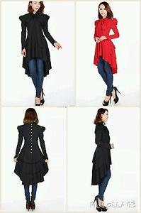 BLACK-Gothic-dress-Victorian-Steampunk-Vintage-Gypsy-Vampire-Fantasy-Top-Dress