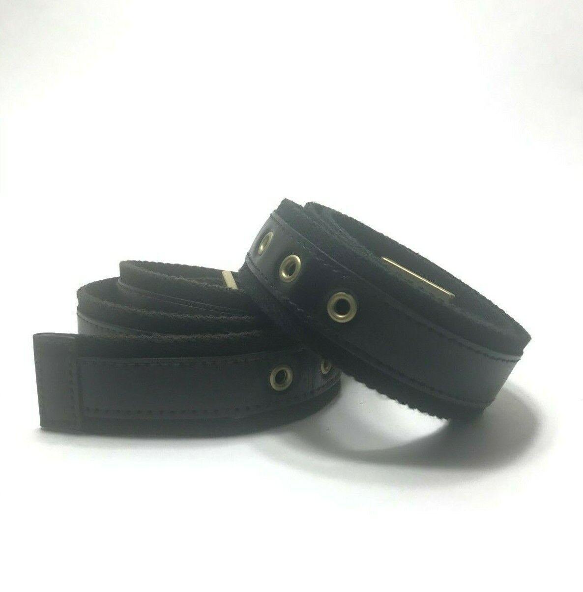 Women's Lot of 2 Brown & Black Canvas Casual Belt Size Medium