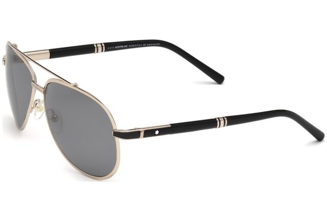 f13a237e266  1300 POLARIZED Genuine MONT BLANC GOLD PLATED Aviator Sunglasses MB 526 S  33D