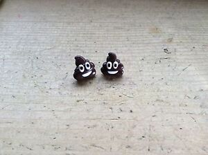 Emoji-Poop-Poo-Earrings-Studs-Handmade-Cute-Pile-Of-Poo-Gift