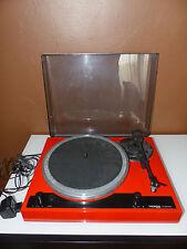 Thorens TD280 MKII Plattenspieler Turntable rot