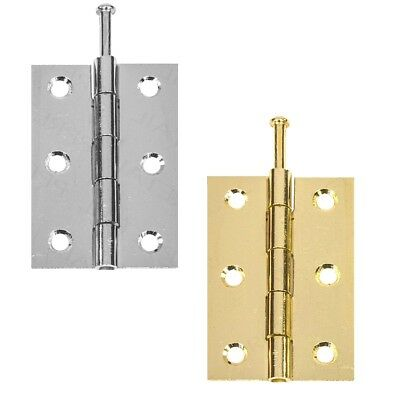"""75mm 10 Pairs of Door Butt Hinges Gold or Silver Brassed Chrome 3/"""""""