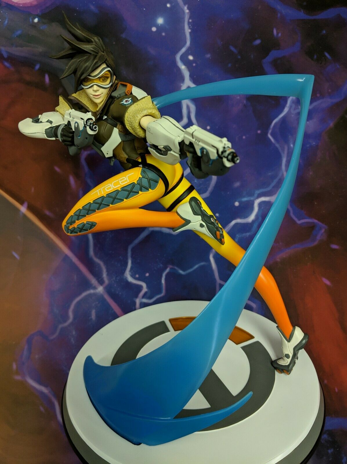 NEW - BLIZZARD - OVERWATCH TRACER - 12IN STATUE - THREEZERO