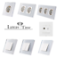 Sockets-Light-Switch-Wall-Switch-AC-Switch-Glass-Frame-lux4099-White thumbnail 1