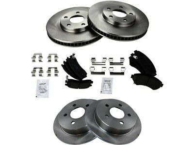 For 1995-2000 Lexus LS400 Brake Pad and Rotor Kit Front and Rear Centric 14399YR