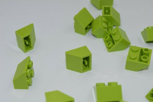 25 New LEGO Lime Green 2x2 Inverted Slope 3660 roof tile angle block lot city