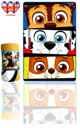 Official Licenced Paw Patrol Blanket Soft Touch Polar Fleece Blanket
