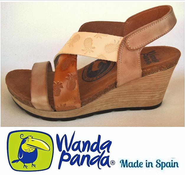 Comfort Sandals Leather. Wanda Panda shoes Made in Spain - Ingrid