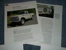 """1961 Ford F-250 4x4 History Info Article """"Four Score"""""""